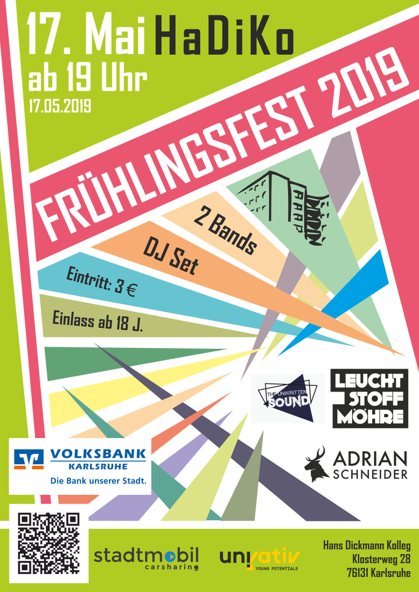 Plakat zum Frühlingsfest